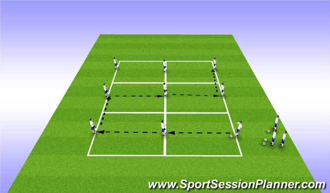 Football/Soccer Session Plan Drill (Colour): S-Passing