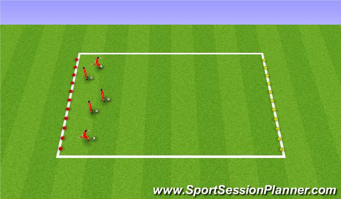 Football/Soccer Session Plan Drill (Colour): Dribbling - Traffic lights