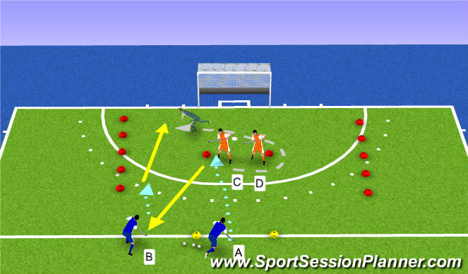 Hockey Session Plan Drill (Colour): TANGO