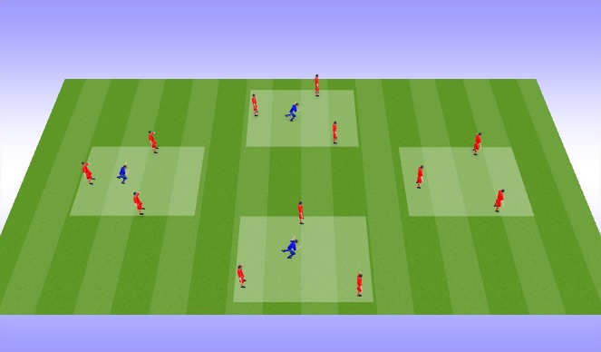 Football/Soccer Session Plan Drill (Colour): Exercise #1