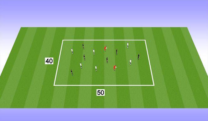 Football/Soccer Session Plan Drill (Colour): KEEP AWAY: 6V6+2