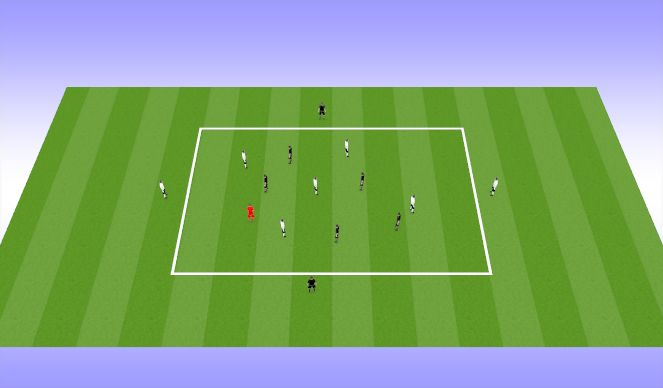 Football/Soccer Session Plan Drill (Colour): DUAL DIRECTION KEEP AWAY