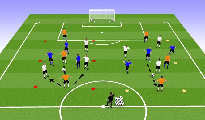 Football/Soccer Session Plan Drill (Colour): TR3