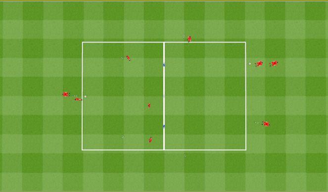 Football/Soccer Session Plan Drill (Colour): 9 man passing drill. Ćwiczenie z podaniem dla 9 Zawodników.
