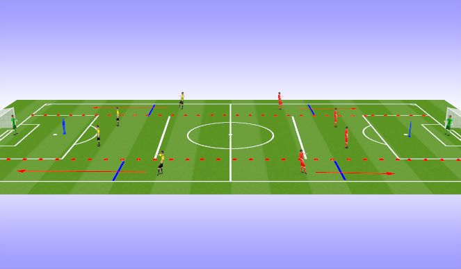 Football/Soccer Session Plan Drill (Colour): Comp 1