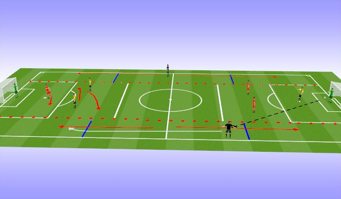 Football/Soccer Session Plan Drill (Colour): Comp 2