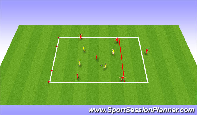 Football/Soccer Session Plan Drill (Colour): Functional training