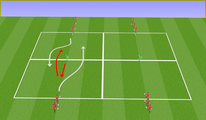 Football/Soccer Session Plan Drill (Colour): W-up dribbling