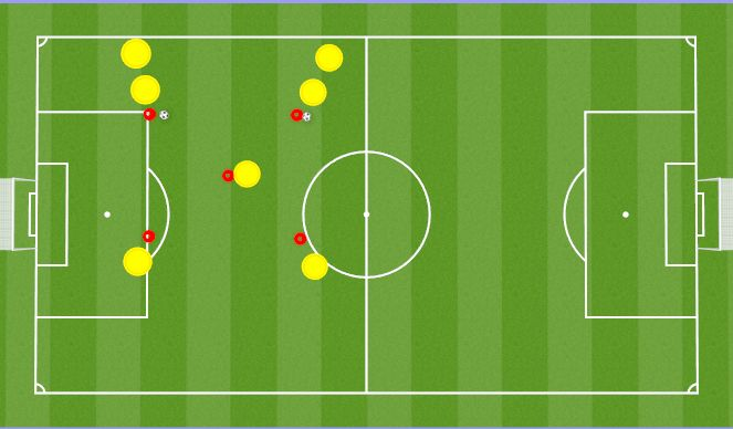 Football/Soccer Session Plan Drill (Colour): Passing Exercise