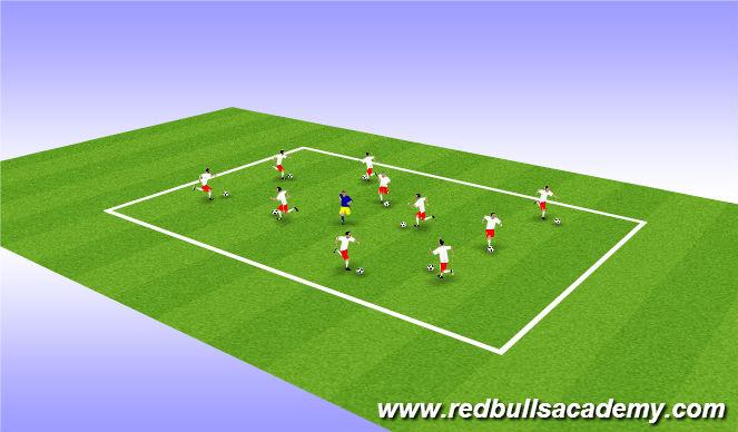 Football/Soccer Session Plan Drill (Colour): Red Light Green Light