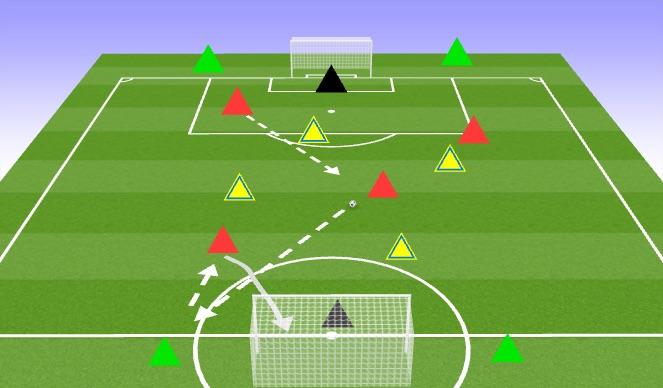 Football/Soccer Session Plan Drill (Colour): 4v4+4 Tournament