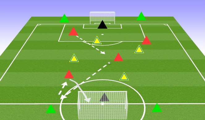 Football/Soccer Session Plan Drill (Colour): 4v4+4 Tournament