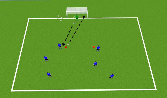 Football/Soccer Session Plan Drill (Colour): Jail
