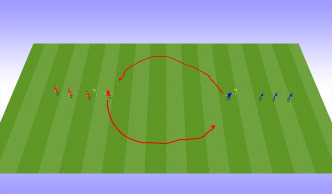Football/Soccer Session Plan Drill (Colour): Cat & Mouse