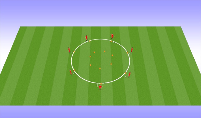 Football/Soccer Session Plan Drill (Colour): Funny Turns