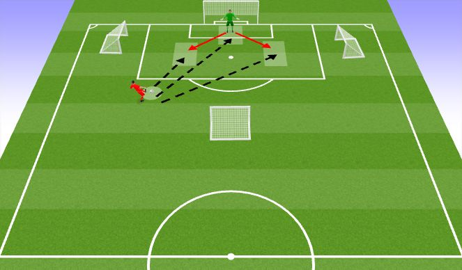 Football/Soccer Session Plan Drill (Colour): Screen 1 (10 mins)