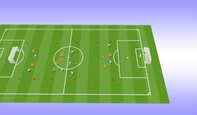 Football/Soccer Session Plan Drill (Colour): SSG 8vs8