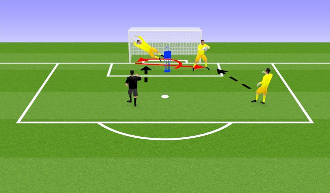 Football/Soccer Session Plan Drill (Colour): Handling and Movement technical practice