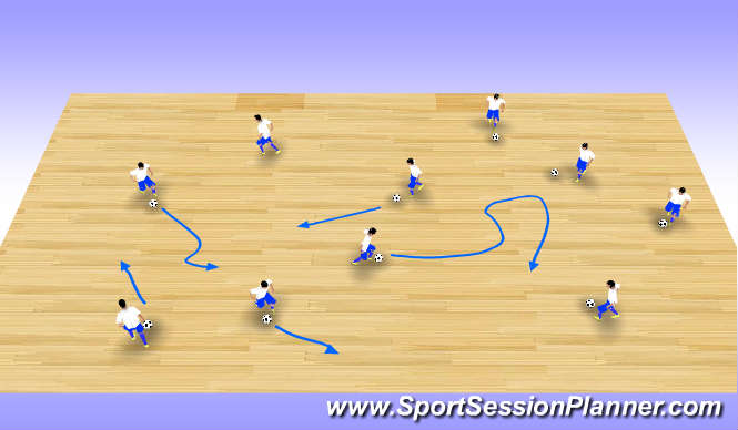 Futsal Session Plan Drill (Colour): Station 3