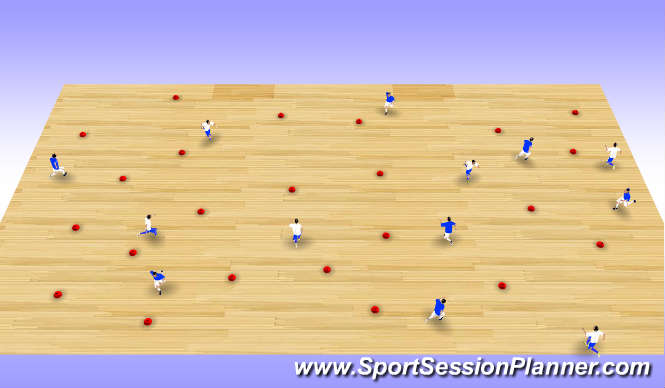 Futsal Session Plan Drill (Colour): Flip the Cone