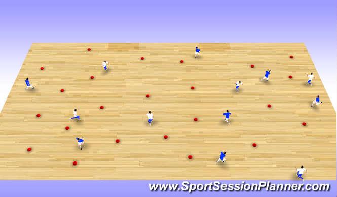 Futsal Session Plan Drill (Colour): Flip the Cone