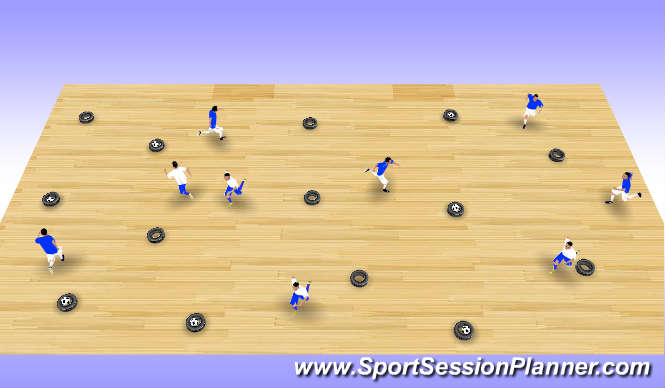 Futsal Session Plan Drill (Colour): Station 1