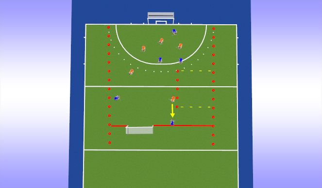 Hockey Session Plan Drill (Colour): Onderdeel 2