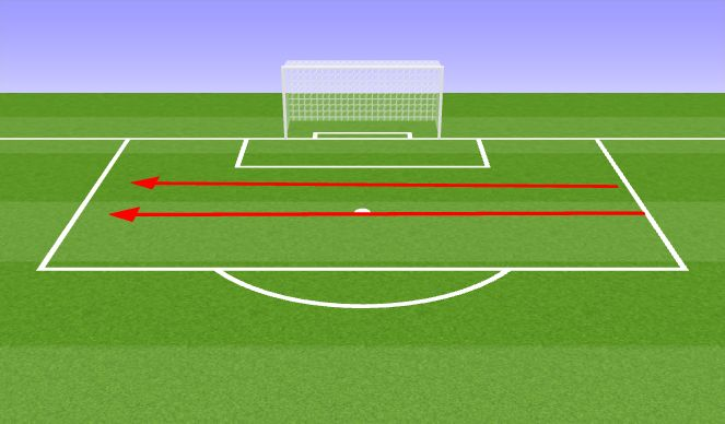 Football/Soccer Session Plan Drill (Colour): Warm up races