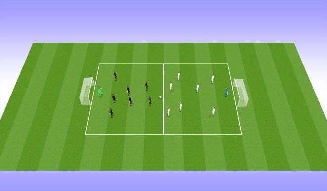 Football/Soccer Session Plan Drill (Colour): Activity #3