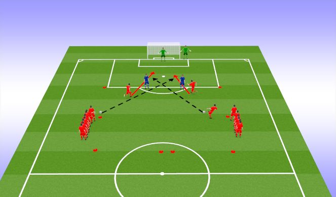 Football/Soccer Session Plan Drill (Colour): TR4
