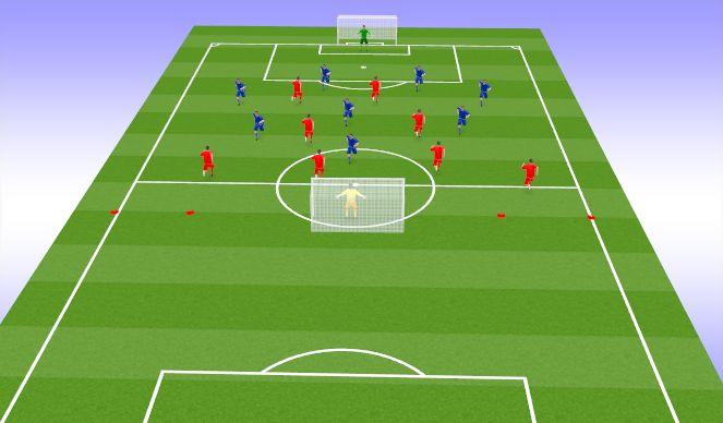 Football/Soccer Session Plan Drill (Colour): SSG 9vs9