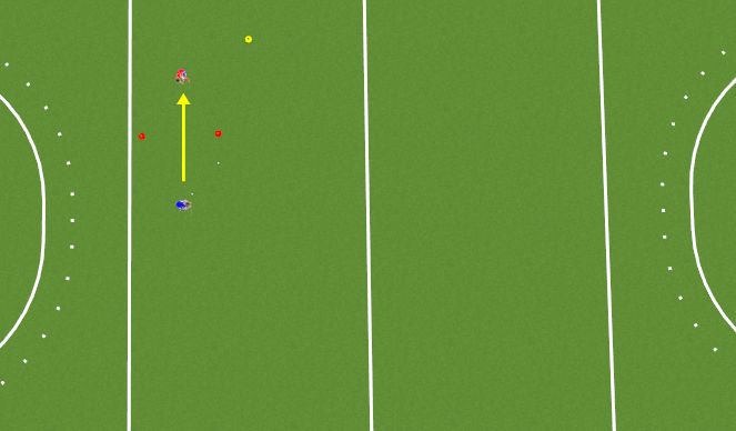 Hockey Session Plan Drill (Colour): Station 3