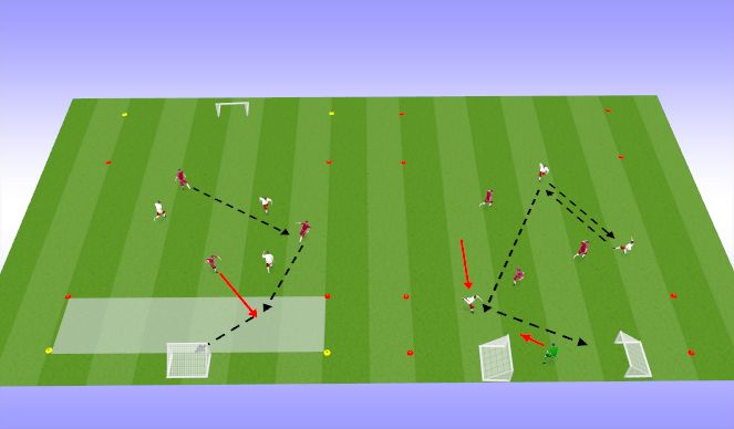 Football/Soccer Session Plan Drill (Colour): pp passes