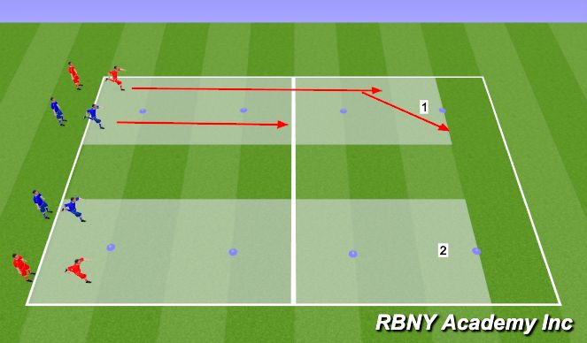 Football/Soccer Session Plan Drill (Colour): Ball Mastery & SAQ