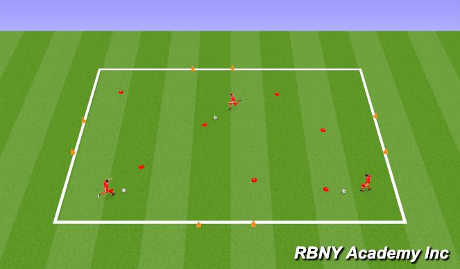 Football/Soccer Session Plan Drill (Colour): Inro