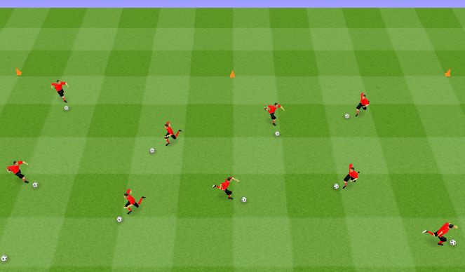 Football/Soccer Session Plan Drill (Colour): Technical: Intro to Dribbling
