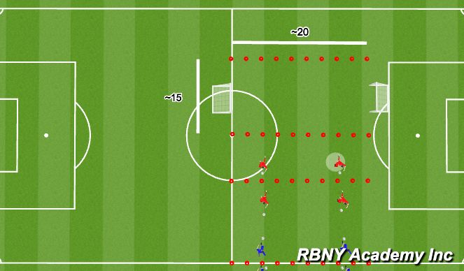 Football/Soccer Session Plan Drill (Colour): Play 1
