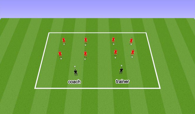 Football/Soccer Session Plan Drill (Colour): Making friends with the ball