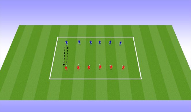 Football/Soccer Session Plan Drill (Colour): W up (10 mins)