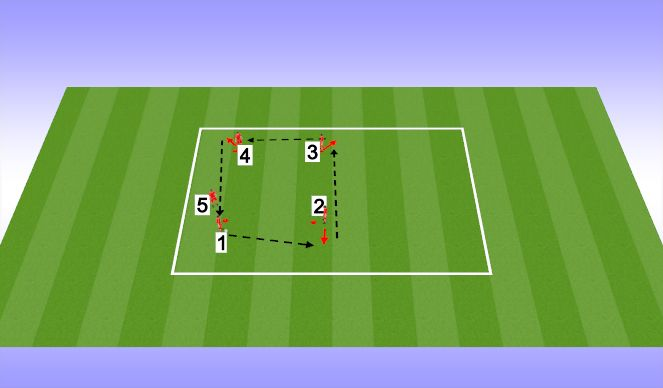 Football/Soccer Session Plan Drill (Colour): Technical (20 mins)