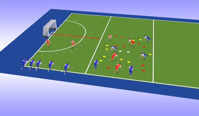 Hockey Session Plan Drill (Colour): Games 1&2