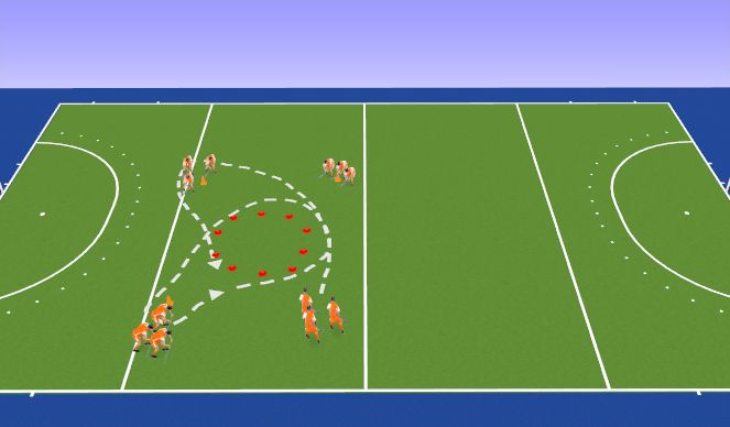 Hockey Session Plan Drill (Colour): Warming-up
