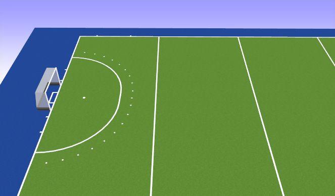 Hockey Session Plan Drill (Colour): Inspelen