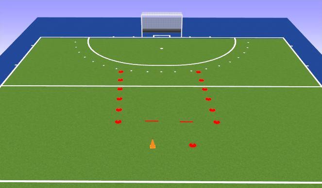 Hockey Session Plan Drill (Colour): Techniek
