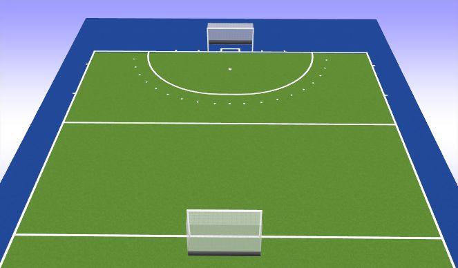 Hockey Session Plan Drill (Colour): Partijvorm