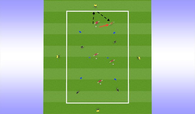 Football/Soccer Session Plan Drill (Colour): Unnopposed Passing Practice