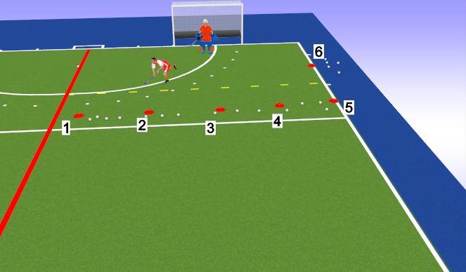 Hockey Session Plan Drill (Colour): Ex 1
