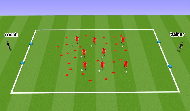 Football/Soccer Session Plan Drill (Colour): Rush Hour