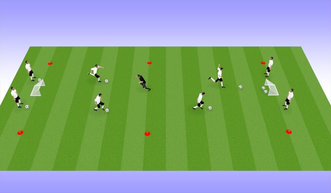 Football/Soccer Session Plan Drill (Colour): 1vCoach