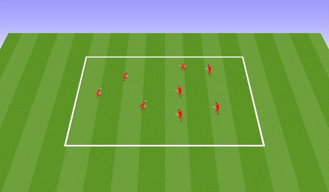 Football/Soccer Session Plan Drill (Colour): Everyone's it Tag